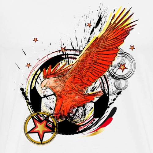 Adler mit Deutschland Stern - Männer Premium T-Shirt