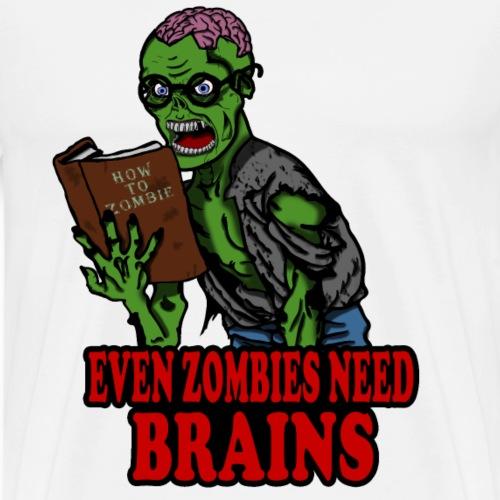 Zombie Nerd - Männer Premium T-Shirt