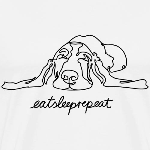 eatsleeprepeat - Männer Premium T-Shirt