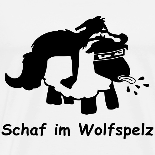 Schaf im Wolfspelz mit Bezeichnung - Männer Premium T-Shirt