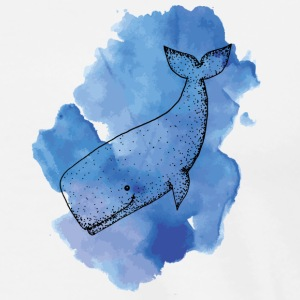 Whale Color - Premium-T-shirt herr