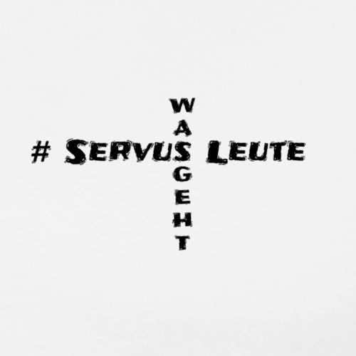 Servus Leute White Kreuz - Männer Premium T-Shirt