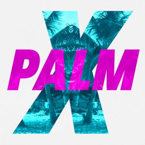 PALM X CYAN PINK Compact - Men's Premium T-Shirt