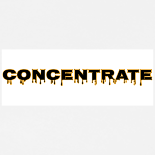 Concentrate on white - Men's Premium T-Shirt