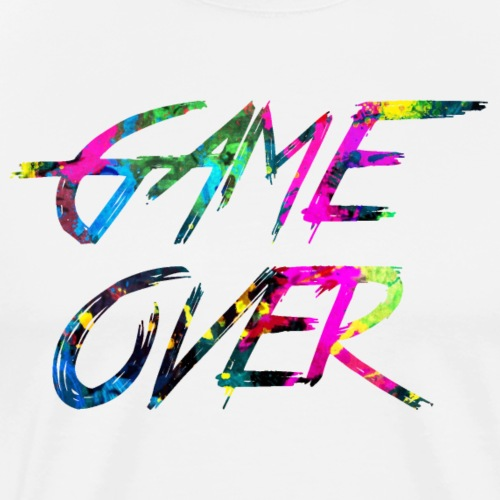 rainbow Game over - Premium T-skjorte for menn