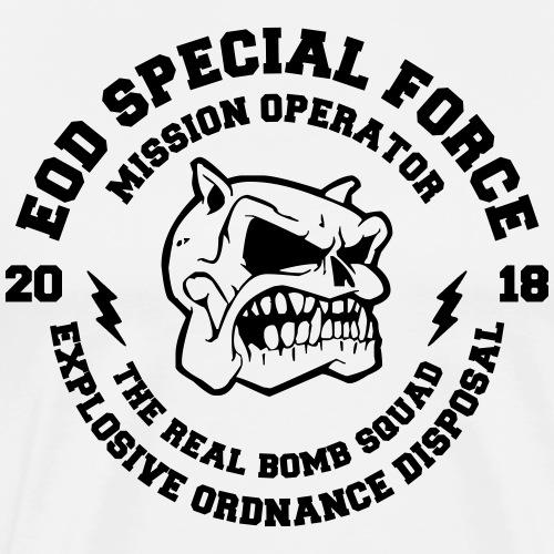 EOD SPECIAL FORCE SKULL BOMB SQUAD GESCHENK SHIRT - Männer Premium T-Shirt