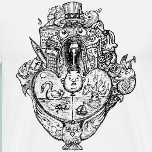 Sammelsurium Kim - schräge Kunst - Männer Premium T-Shirt