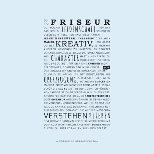Liebesbrief an Friseure - Schwarze Variante - Männer Premium T-Shirt