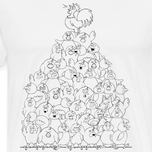 Hühnerhaufen in schwarz - Männer Premium T-Shirt