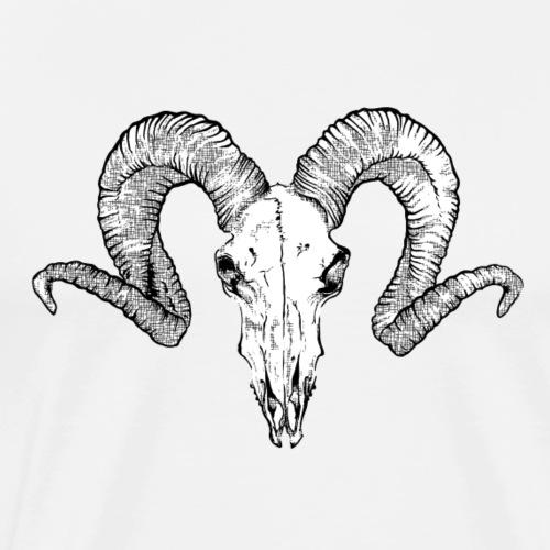 skull bouc - T-shirt Premium Homme