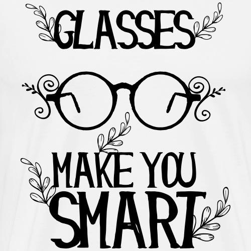 Brillenträger - Glasses make you smart - Männer Premium T-Shirt
