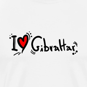 I Love Gibraltar - Men's Premium T-Shirt