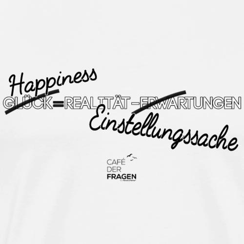 Happiness - schwarze Schrift - Männer Premium T-Shirt