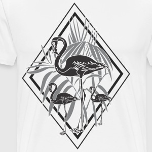 sorte flamingoer - Premium T-skjorte for menn