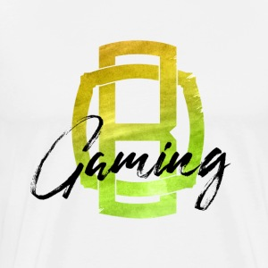 OB Gaming / Sort bogstaver - Herre premium T-shirt