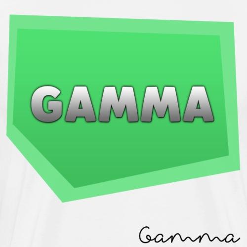 Gamma Motiv Mit Unterschrift - Männer Premium T-Shirt