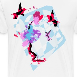 Hummingbird Art - Men's Premium T-Shirt