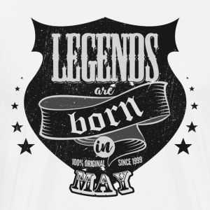 All legends may born birthday gift - Men's Premium T-Shirt