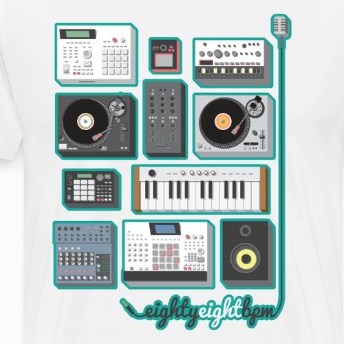 88 BPM Full Set (cyan) - Men's Premium T-Shirt