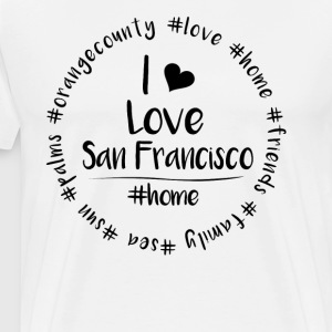 Jeg elsker San Francisco - Orange County - Premium T-skjorte for menn