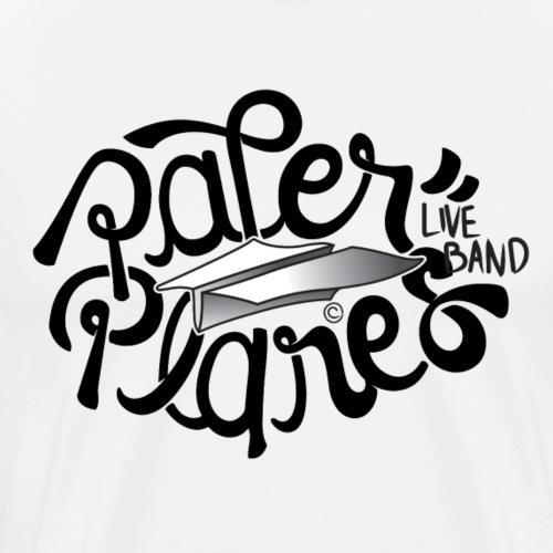 Paper PlanesLogo Zwart - Mannen Premium T-shirt