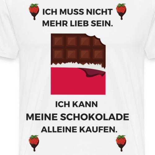 Ich muss nicht mehr lieb sein (schwarz) - Männer Premium T-Shirt