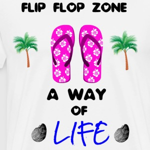 Plage - mer - Flip flops Collection - T-shirt Premium Homme