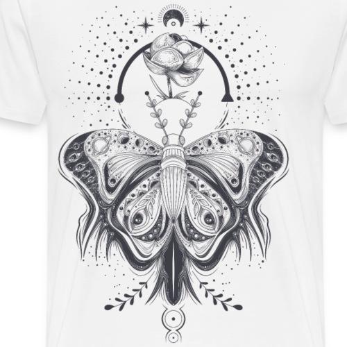 Hand Drawn Butterfly - Men's Premium T-Shirt