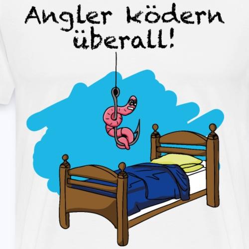 Angler Tshirt Design mit einem Köder - Männer Premium T-Shirt