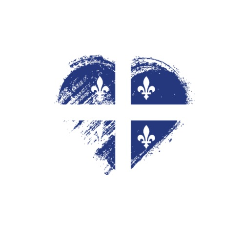 Grungy I Love Quebec Heart Flag - Men's Premium T-Shirt