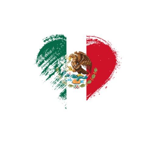 Grungy I Love Mexico Heart Flag - Men's Premium T-Shirt
