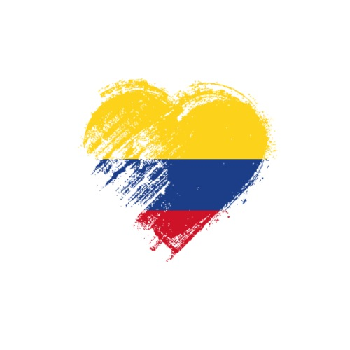 Grungy I Love Colombia Heart Flag - Men's Premium T-Shirt