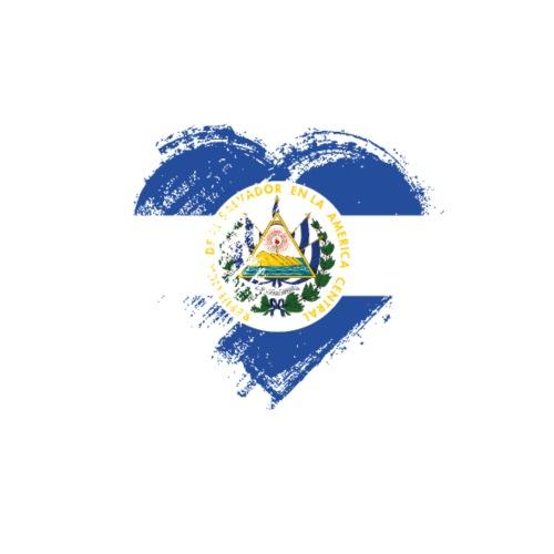 Grungy I Love El Salvador Heart Flag - Men's Premium T-Shirt