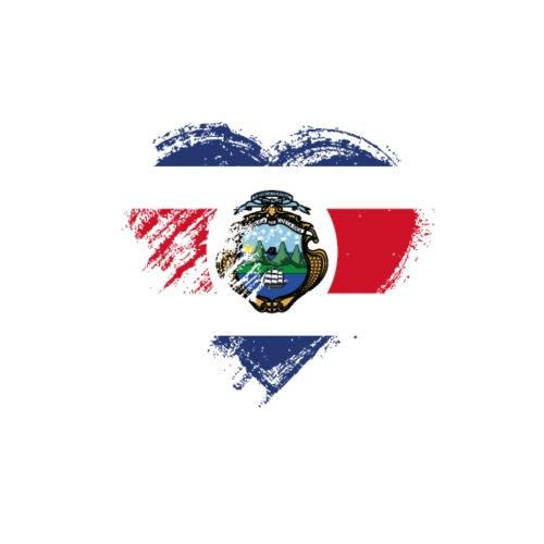 Grungy I Love Costa Rica Heart Flag - Men's Premium T-Shirt