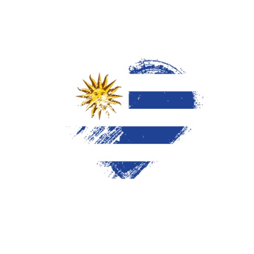 Grungy I Love Uruguay Heart Flag - Men's Premium T-Shirt