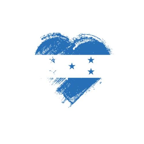 Grungy I Love Honduras Heart Flag - Men's Premium T-Shirt