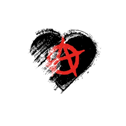 Grungy I Love Anarchy Heart Flag - Men's Premium T-Shirt