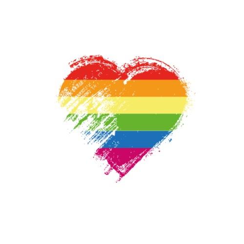 Grungy I Love LGBT Heart Flag - Men's Premium T-Shirt