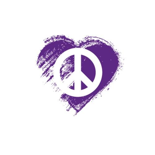 Grungy I Love Peace Heart Flag - Men's Premium T-Shirt