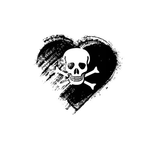 Grungy I Love Pirates Heart Flag - Men's Premium T-Shirt