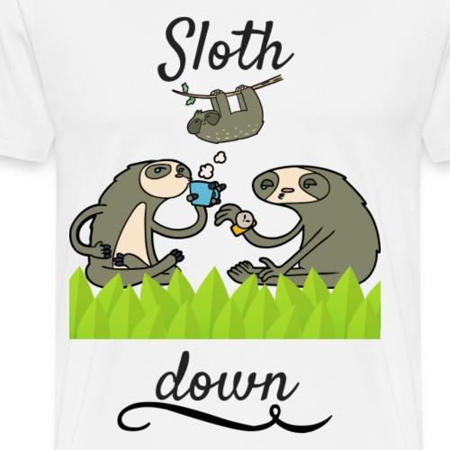 Sloth down - Männer Premium T-Shirt