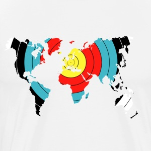 Boogschieten World Map - Mannen Premium T-shirt