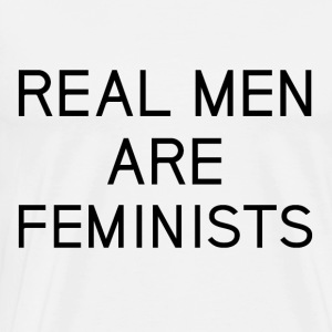 real_men_are_feminists - Mannen Premium T-shirt