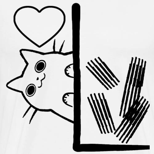 Katze Tapeten Kratzen - Männer Premium T-Shirt
