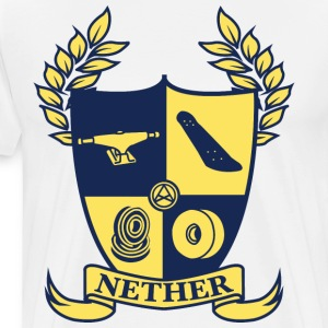 Nether College T-skjorte - Premium T-skjorte for menn