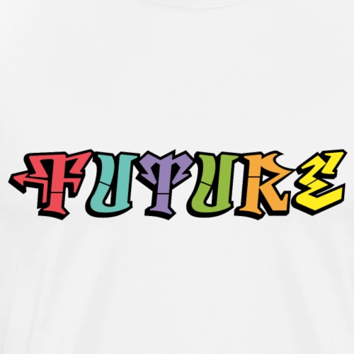 Future Graffiti - Herre premium T-shirt