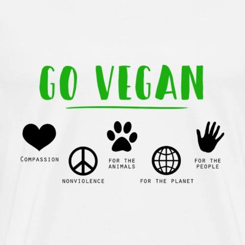 Go Vegan - T-shirt Premium Homme