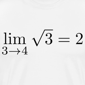 Limit of sqrt (3) when running against 4. 3 - Men's Premium T-Shirt