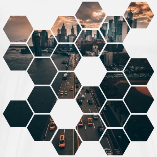Hexagon - Maglietta Premium da uomo