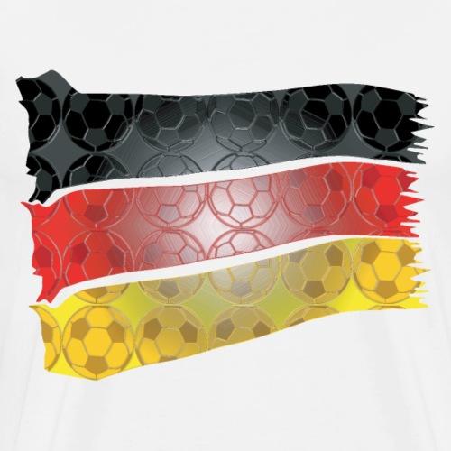 WM Deutschland Flagge Fussball - Männer Premium T-Shirt